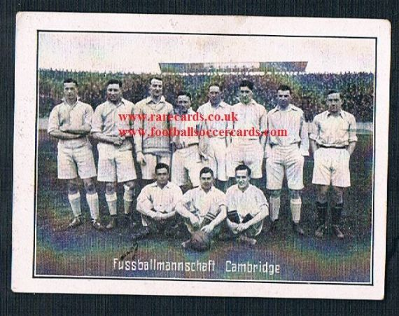 1920s Greiling Cambridge University FC cigarette card